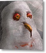 Winter - Snowman - What Are You Looking At Metal Print