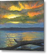 Winter Solstice At The Confluence Of The Mississippi And The Missouri Rivers Metal Print