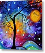 Winter Sparkle Original Madart Painting Metal Print by Megan Duncanson