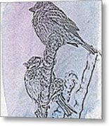 Winter Sparrows 2 Metal Print