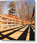 Winter Spring Crossover Metal Print