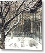 Winter Storm At The Cloisters 3 Metal Print