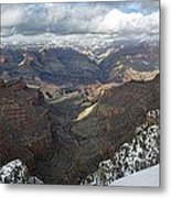Winter Storm At The Grand Canyon Metal Print