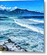 Winter Storm Surf At Ho'okipa Maui Metal Print