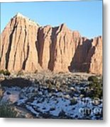 Winter Stream In Cathedral Valley Metal Print