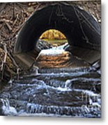 Winter Stream Media Metal Print