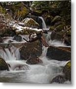 Winter Stream Tranquility Metal Print