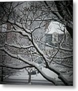 Winter Street Metal Print by Joyce Kimble Smith