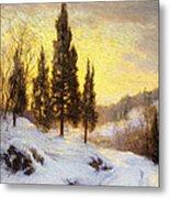Winter Sundown Metal Print