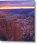 Winter Sunrise At Bryce Canyon Metal Print