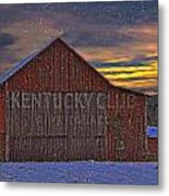 Winter Sunrise Over Dorothy's Barn. Metal Print