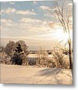 Winter Sunrise Panorama Metal Print