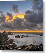Winter Sunset At Patrick's Point Metal Print by Greg Nyquist