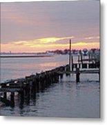 Winter Sunset Freeport Metal Print