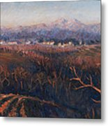 Winter Sunset In Brianza Metal Print