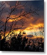 Winter Sunset In The Rogue Valley Metal Print