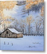 Winter Sunset Metal Print by Michelle Wiarda