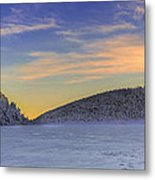Winter Sunset Over Eagle Lakes Metal Print