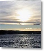 Winter Sunset Over Gardiner's Bay Metal Print by John Telfer