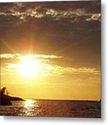 Winter Sunset Over Long Island Metal Print
