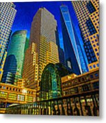 Winter Sunshine In Battery Park City Metal Print