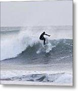 Winter Surfing Metal Print
