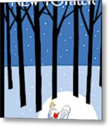 Winter Tails Metal Print