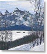 Winter Tetons Metal Print