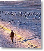 Winter Time At The Beach Metal Print