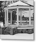 Winter Time Gazebo Metal Print