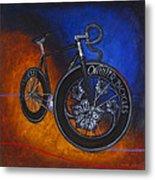 Winter Track Bicycle Metal Print