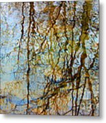Winter Tree Reflections Metal Print