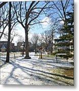 Winter Tree Shadows Metal Print