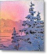 Winter Twilight Metal Print