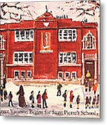 Winter Vacation Begins For Saint Pierre's School Metal Print