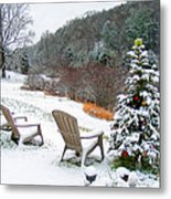 Winter Valley Chairs 2 Metal Print
