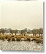 Winter Water Landscape Metal Print