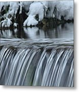 Winter Waterfall Metal Print