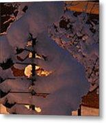 Winter Whirligig Metal Print