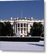 Winter White House  Metal Print