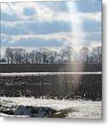 Winter White Rainbow Metal Print