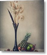 Winter With Fruits Metal Print