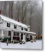 Winter Wonderland At The Valley Green Inn Metal Print