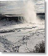 Winter Wonderland - Spectacular Niagara Falls Ice Buildup  Metal Print