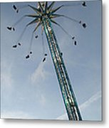 Winter Wonderland Star Flyer Metal Print