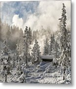 Winter Wonderland - Yellowstone National Park Metal Print
