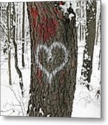 Winter Woods Romance Metal Print
