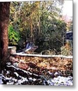 Winter Woods With Melting Snow Metal Print
