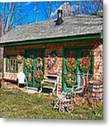 Winterberry Farm Stand Metal Print by Guy Whiteley