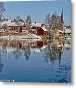 Winterday In Arboga  Metal Print